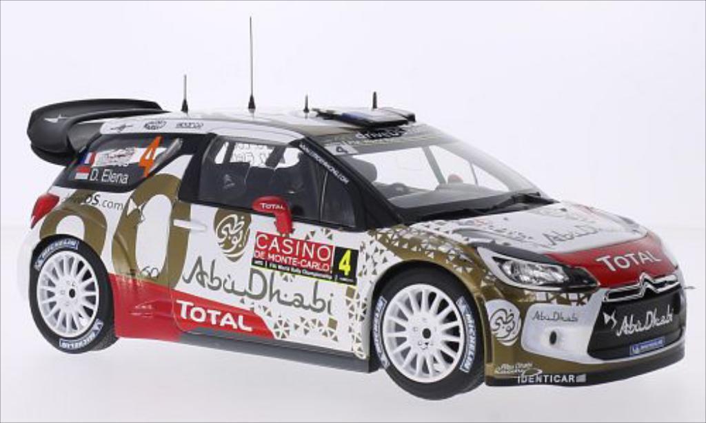 DS Automobiles DS3 1/18 Norev WRC No.4 Abu Dhabi WRC Rallye Monte-Carlo 2015 /D.Elena miniature