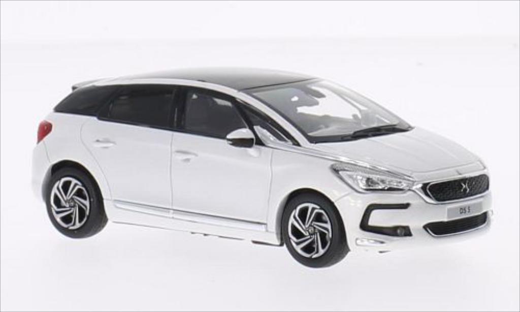DS Automobiles DS5 1/43 Norev metallise blanche 2015 miniature