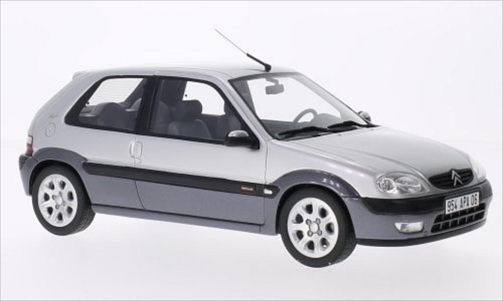 Citroen Saxo 1/18 Ottomobile New Morning grigia miniatura