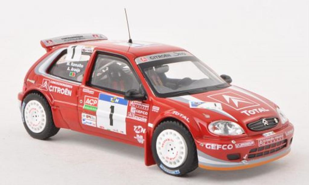 Citroen Saxo 1/43 IXO S1600 No.1 Rally Portugal 2004 /M.Ramalho miniature