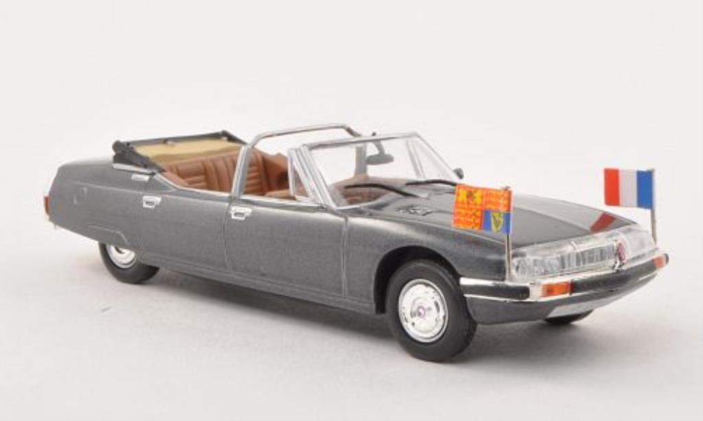 Citroen SM 1/43 Norev Chapron Decapotable Presidentielle grise Georges Pompidou 1972 miniature