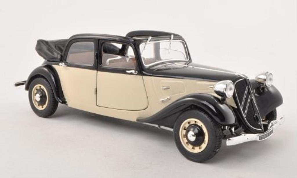 Citroen Traction 11 1/18 Solido B Decouvrable noire/beige 1938 miniature