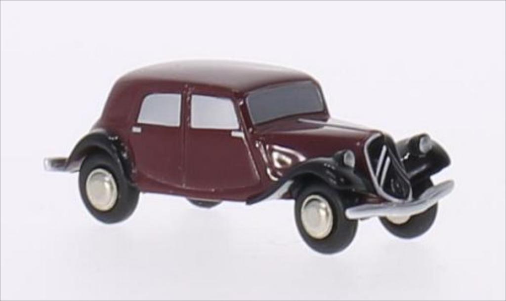 Citroen Traction 1/90 Schuco 11B rouge/noire miniature