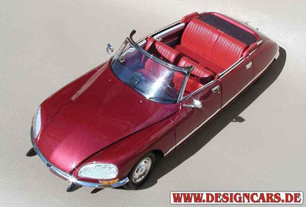 Citroen DS 21 1/18 Norev cabriolet 4 portes rouge lucifer miniature
