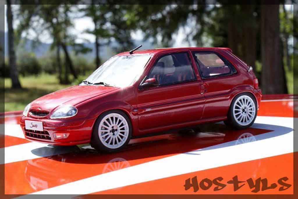 Citroen Saxo 1/18 Ottomobile vts preparation groupe n miniatura
