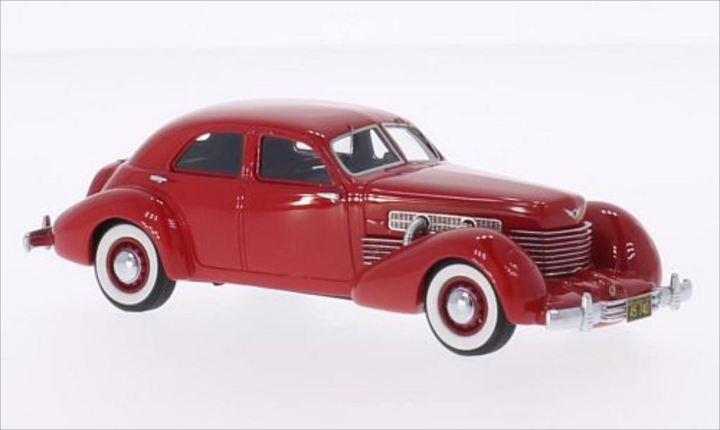 Cord 812 1/43 Neo Supercharged Sedan rouge 1937 miniature