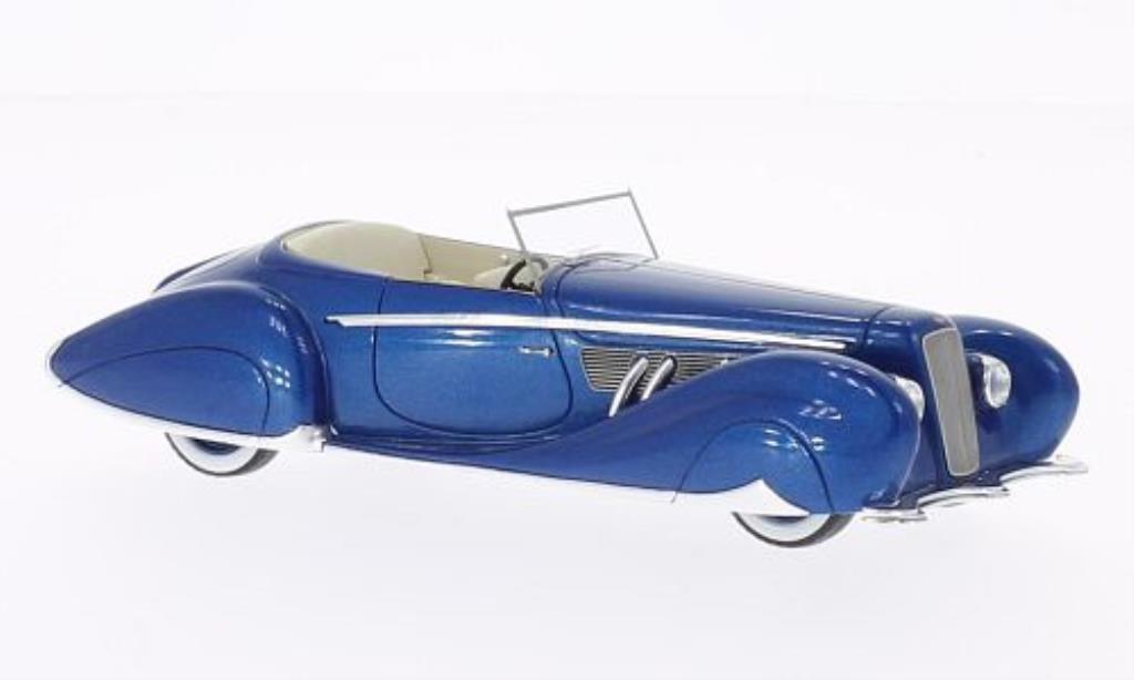 Delage D8-120 1/43 Spark Figoni & Falaschi bleu 1939 miniature