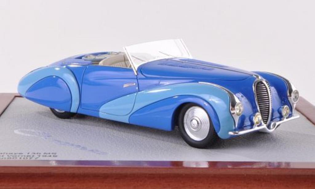 Delahaye 135 1/43 Chromes MS Cabrio Faget Varnet bleu/bleu 1949 miniature