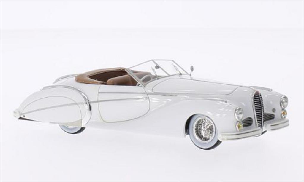 Delahaye 135 1/43 Chromes MS Roadster Saoutchik blanche RHD 1949 miniature