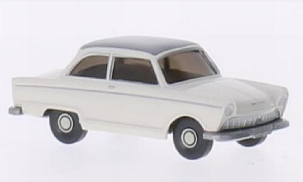 DKW Junior 1/87 Wiking de Luxe blanche/matt-grise miniature