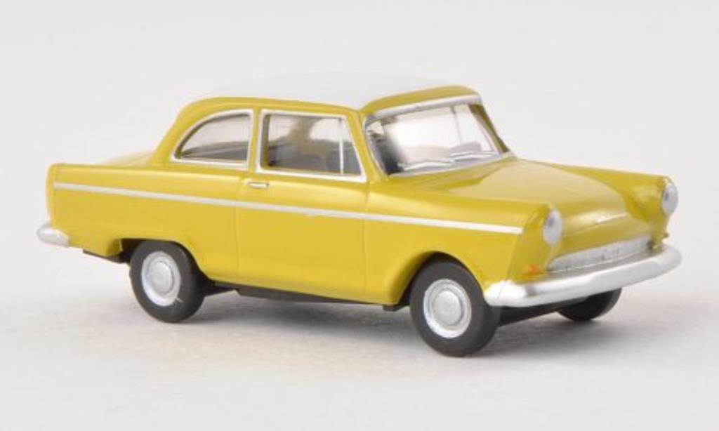 DKW Junior 1/87 Herpa jaune/blanche miniature