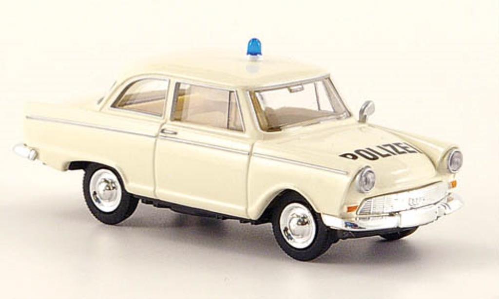 DKW Junior 1/87 Brekina Polizei blanche miniature