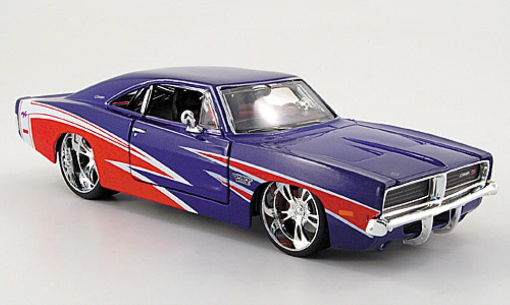 Dodge Charger 1/24 Maisto R/T bleu/red Tuningversion 1969 diecast