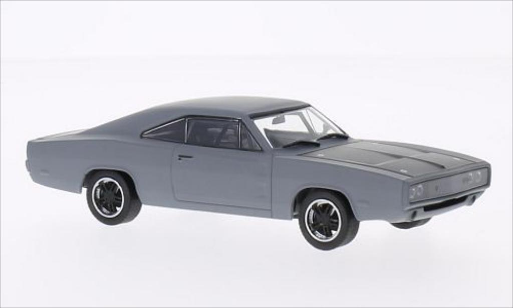 Dodge Charger 1/43 Greenlight R/T matt-grise/noire 1970