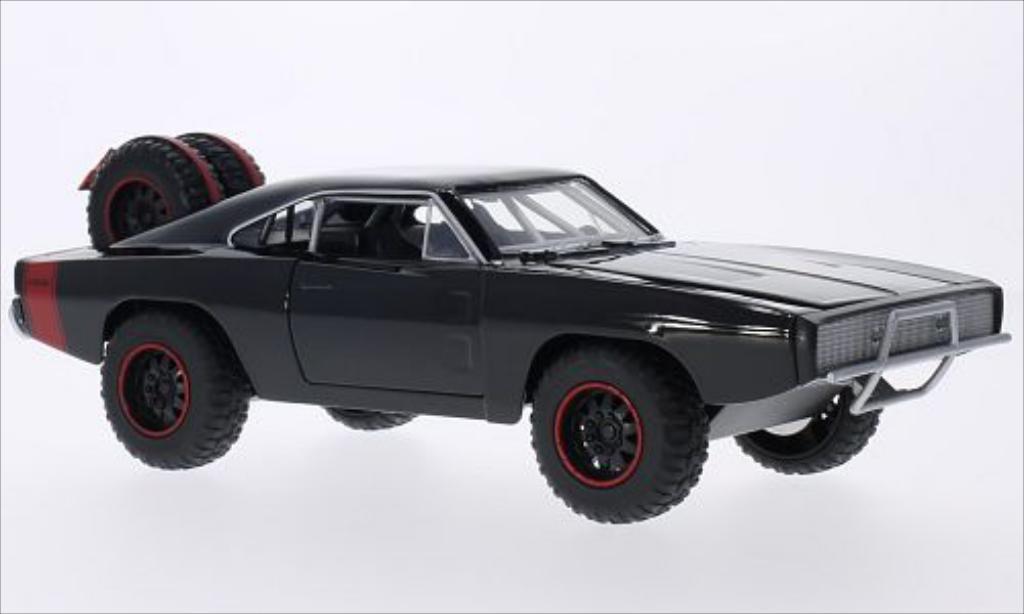 Dodge Charger 1/24 Jada Toys R/T Off Road noire 1970 miniature