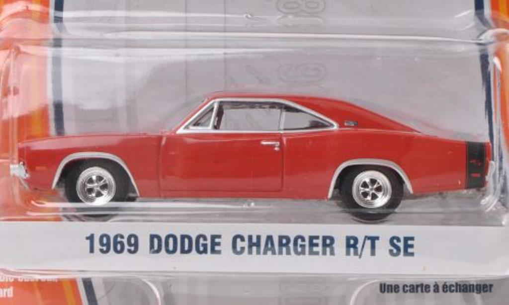 Dodge Charger 1/64 Greenlight R/T SE red/black 1969 diecast