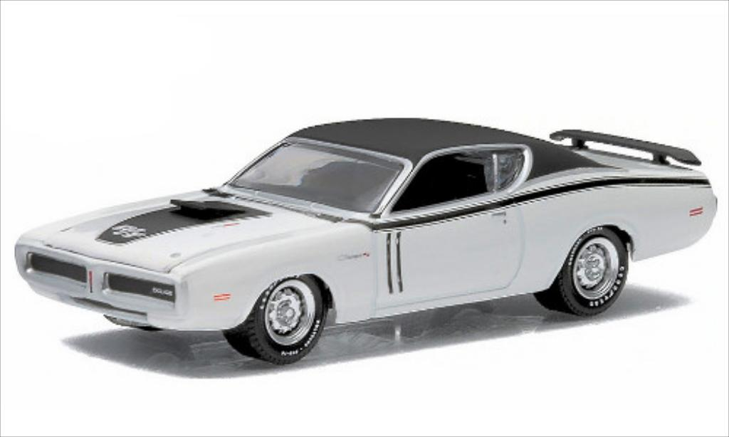 Dodge Charger 1/64 Greenlight R/T white/matt-black 1971 diecast