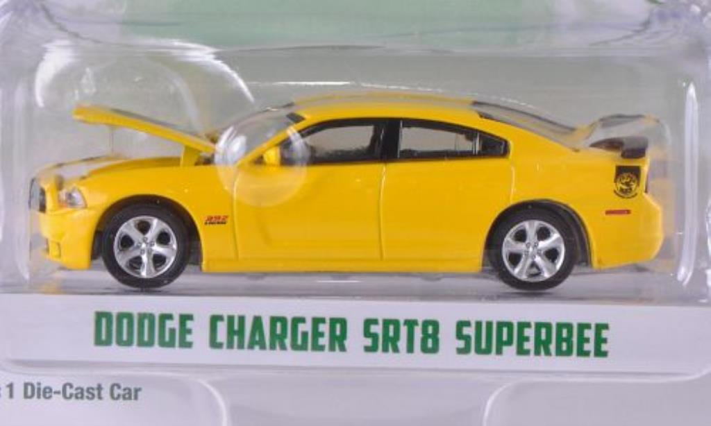 Dodge Charger 1/64 Greenlight SRT8 SuperBee yellow/black 2012 diecast model cars