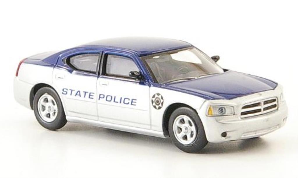 Dodge Charger 1/87 Ricko State Police grigia/bleu Polizei (US) miniatura