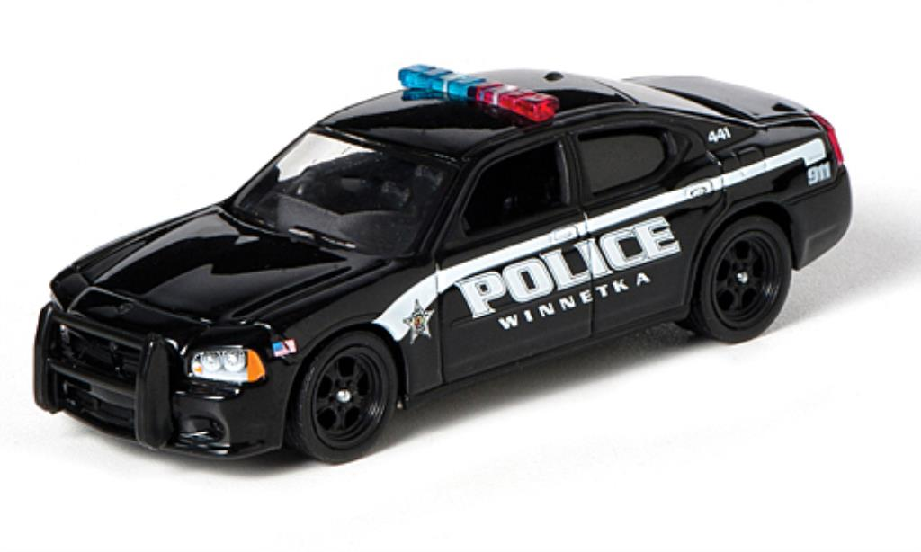 Dodge Charger 1/64 Greenlight Winnetka IL Police 2010 miniatura
