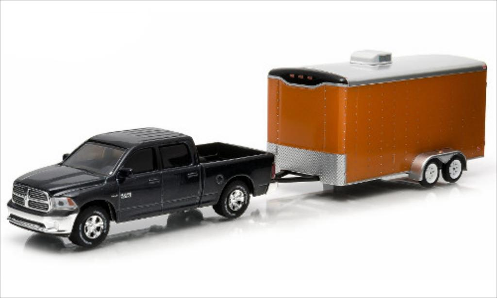 Dodge RAM 1/64 Greenlight 1500 mit 2-Achs-Autotransporthanger 2014 miniature