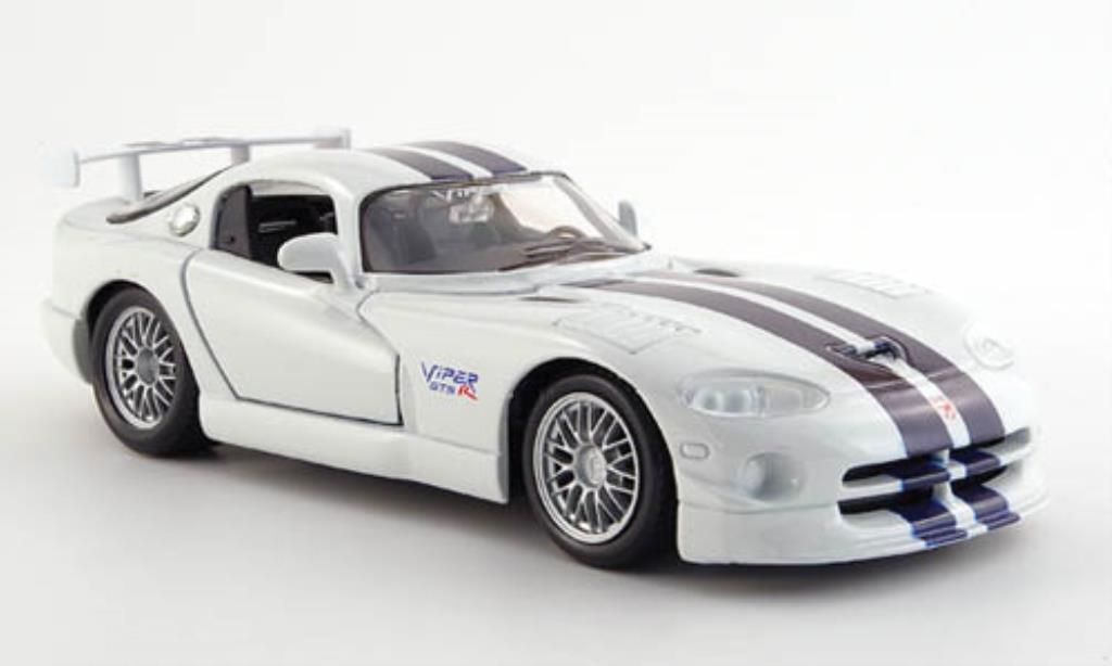Dodge Viper 1/24 Maisto GT 2 blanche mit bleuen Streifen miniature