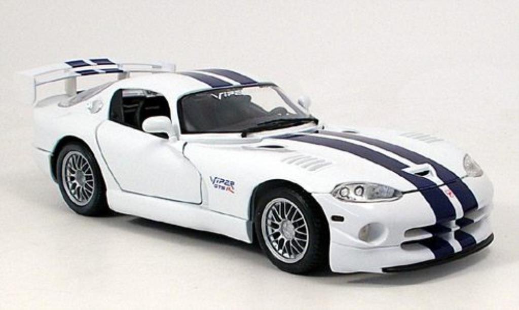 Dodge Viper 1/18 Maisto GT2 bleu-blanche miniature