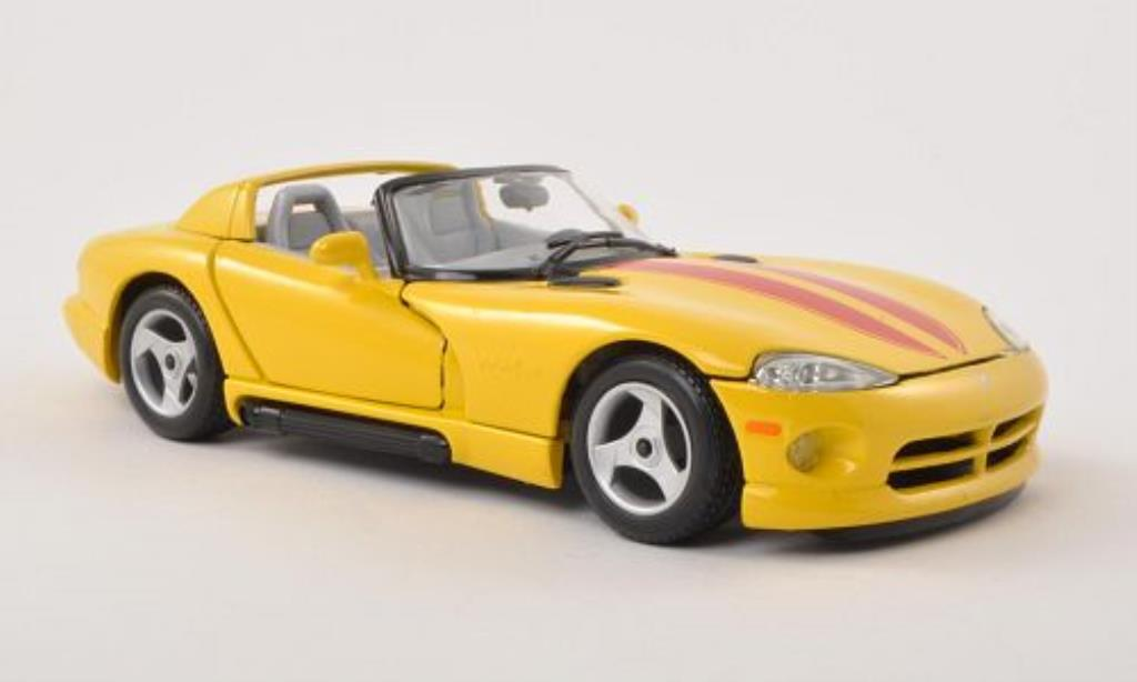 Dodge Viper 1/24 Burago RT/10 jaune/rouge miniature