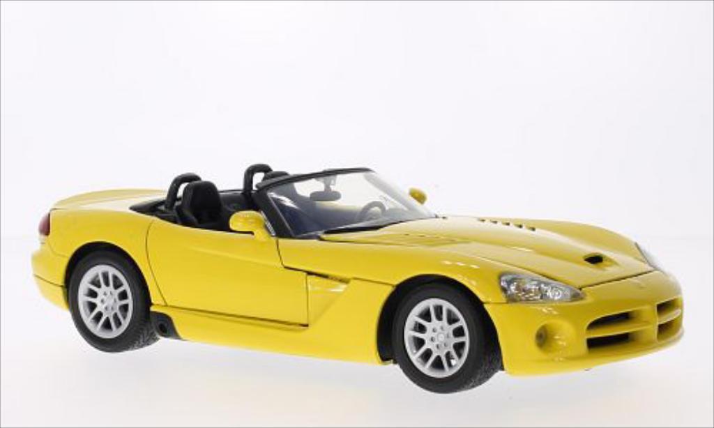 Dodge Viper 1/18 Motormax SRT-10 yellow 2003 diecast