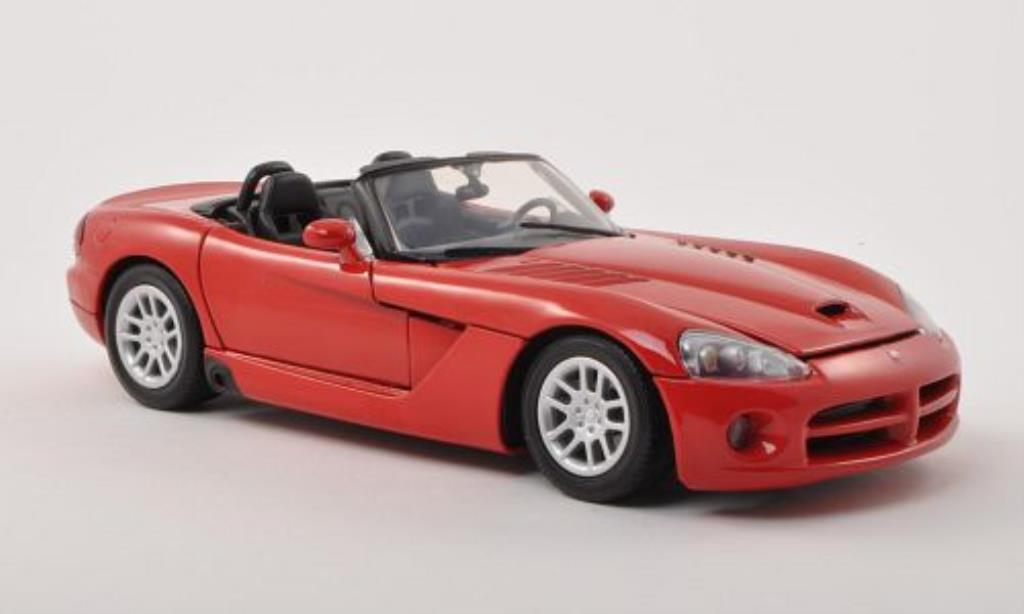 Dodge Viper 1/18 Motormax SRT-10 rouge 2003 miniature