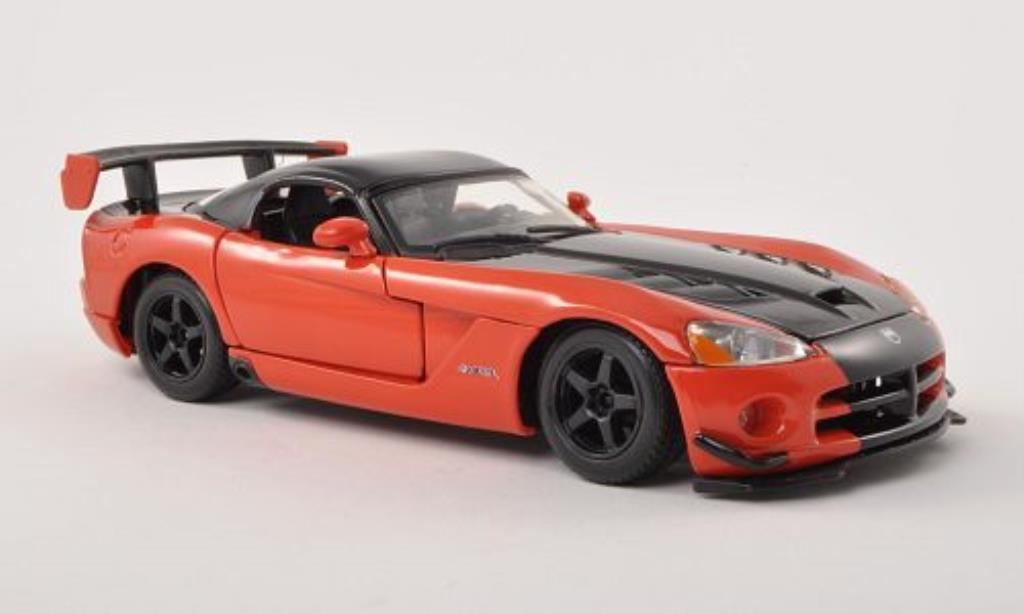 Dodge Viper 1/24 Burago SRT10 ACR orange/noire miniature