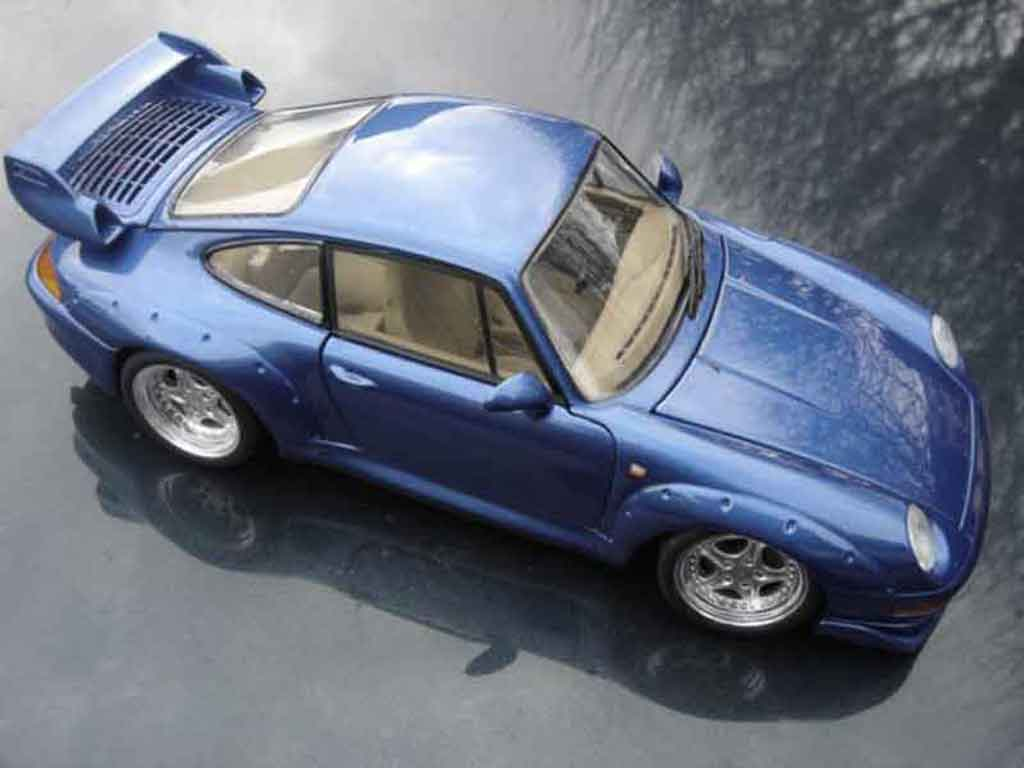 Porsche 993 GT2 1/18 Ut Models lagon bleu diecast model cars