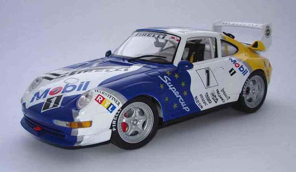 Porsche 993 GT2 1/18 Anson mobil 1 96 #1 miniature