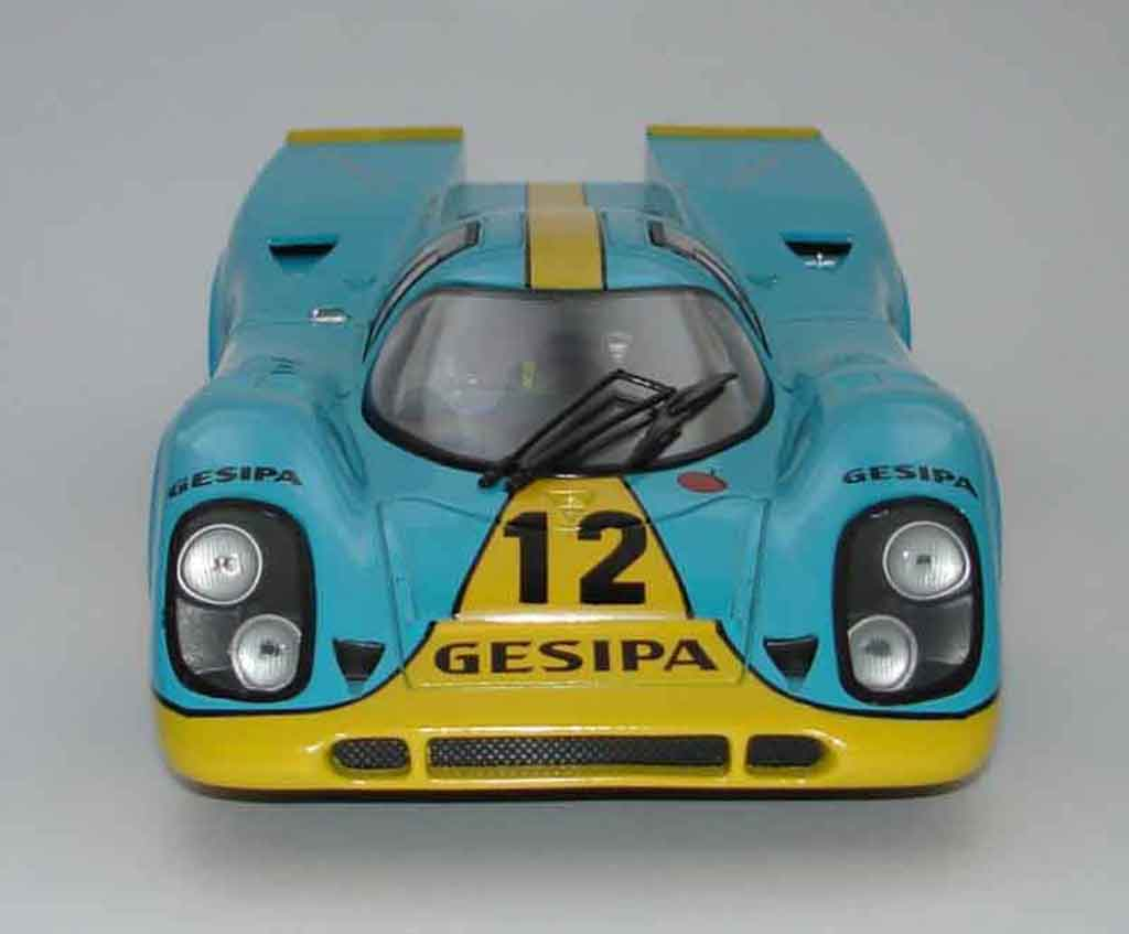Porsche 917 1970 1/18 Universal Hobbies k team gesipa #12 diecast model cars