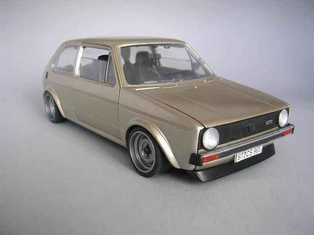 Volkswagen Golf 1 GTI 1/18 Solido moteur g60 diecast model cars