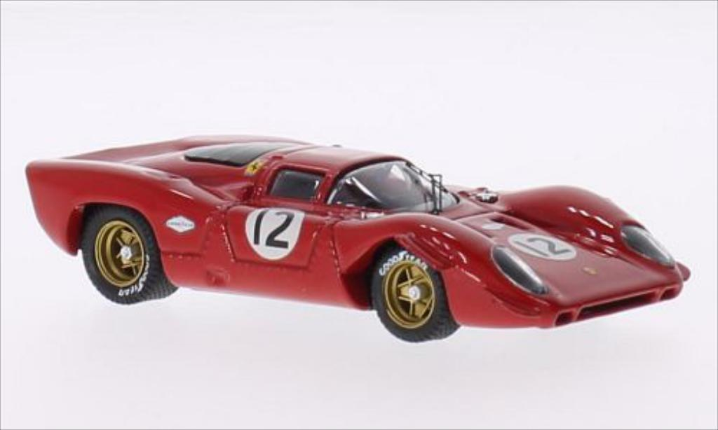 Ferrari 312 P 1/43 Best Coupe RHD No.12 N.A.R.T. Bridgehampton 1969 miniature