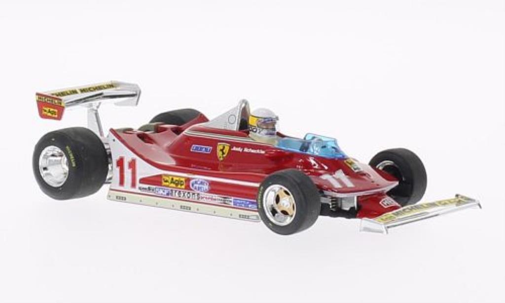 Ferrari 312 T4 1/43 Brumm No.11 mit Fahrerfigur GP Italien 1979 diecast