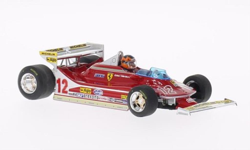 Ferrari 312 T4 1/43 Brumm No.12 mit Fahrerfigur GP Monaco 1979 miniatura
