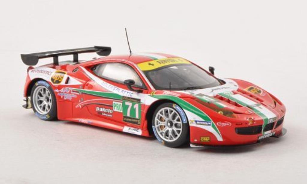 Ferrari 458 Italia 1/43 Fujimi Italia GT2 No.71 AF Corse 24h Le Mans 2013 /O.Beretta modellino in miniatura