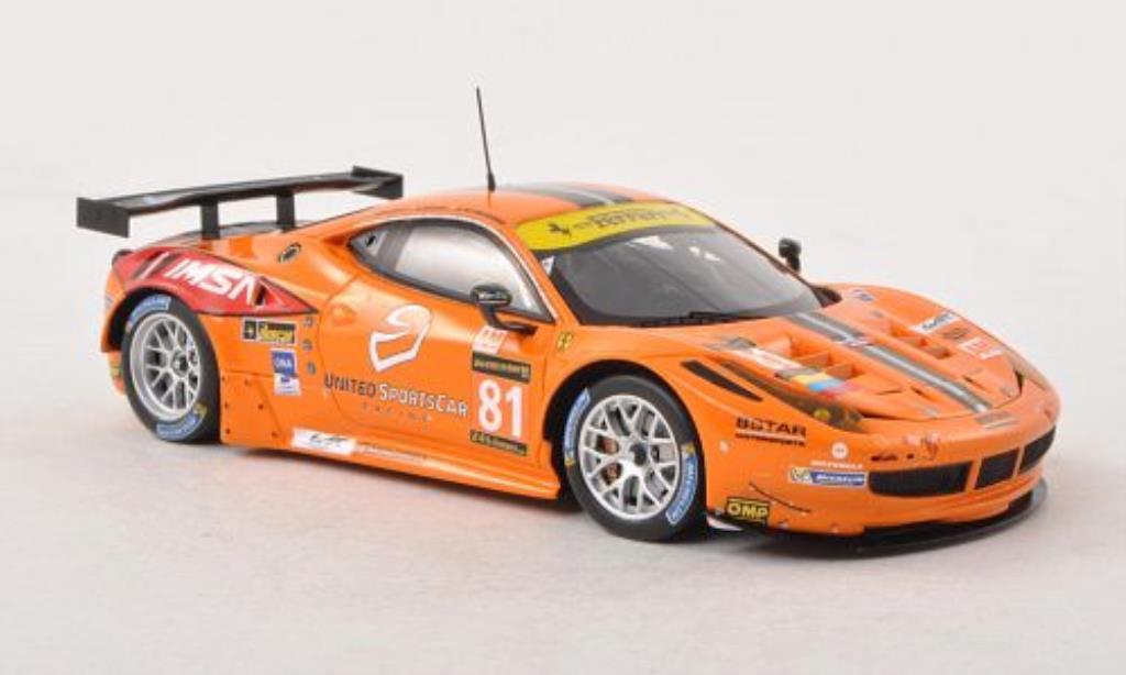 Ferrari 458 Italia 1/43 Fujimi Italia GT2 No.81 8Star Motorsports 24h Le Mans 2013 /J.Bright diecast model cars