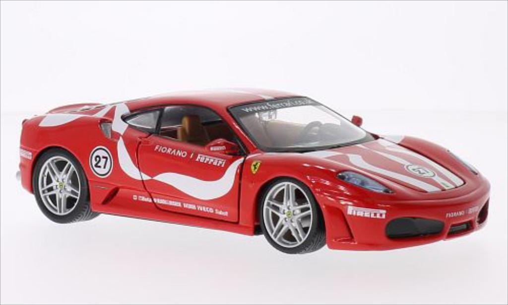 Ferrari F430 1/24 Burago Fiorano rouge miniature