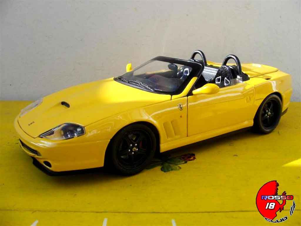 Ferrari 550 Barchetta 1/18 Hot Wheels monegasque l292 miniatura