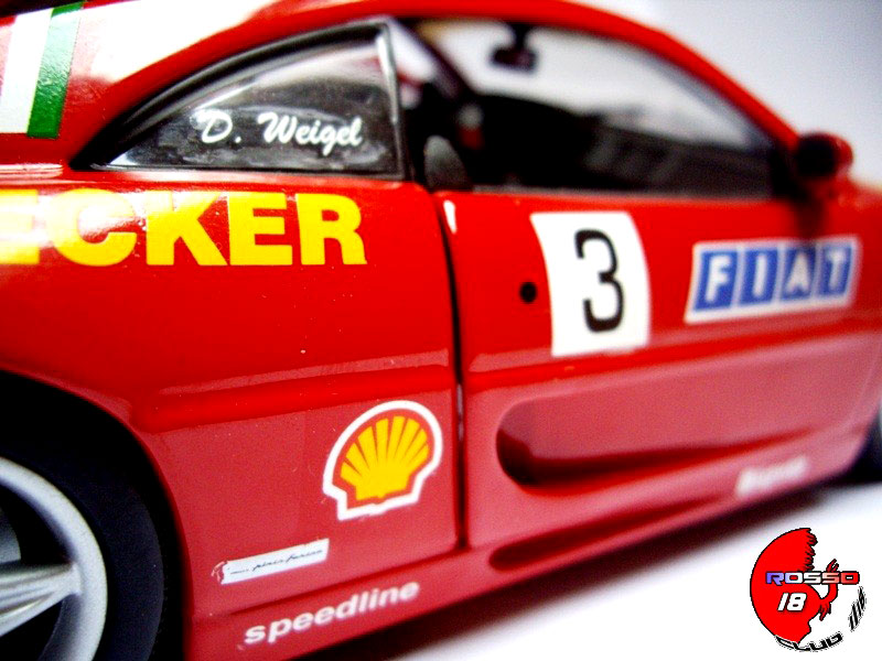 Ferrari F355 Berlinetta 1/18 Hot Wheels ferrari challenge #3 d.weigel auto becker modellautos