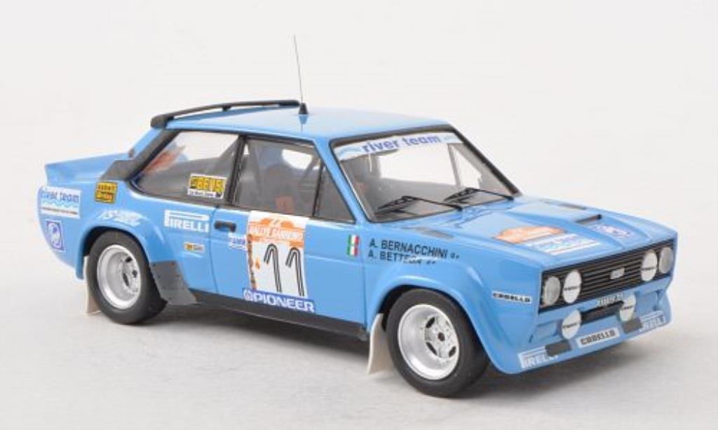 Fiat 131 Abarth 1/43 Trofeu No.11 River Team Rally San Remo 1980 /A.Bemacchini diecast model cars