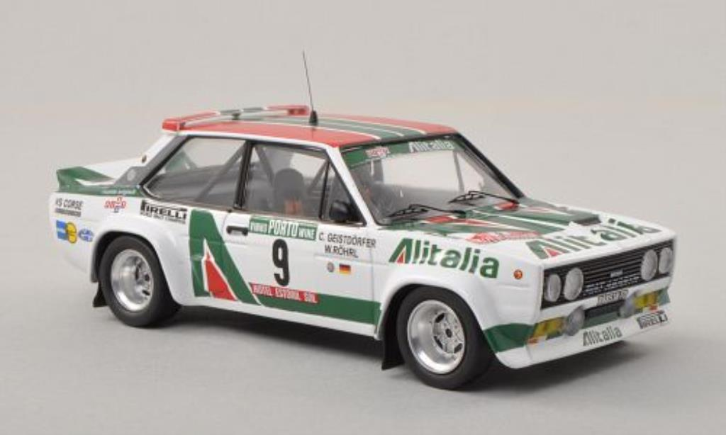Fiat 131 Abarth 1/43 Trofeu No.9 Alitalia Rally Portugal 1978 /C.Geistdorfer diecast model cars