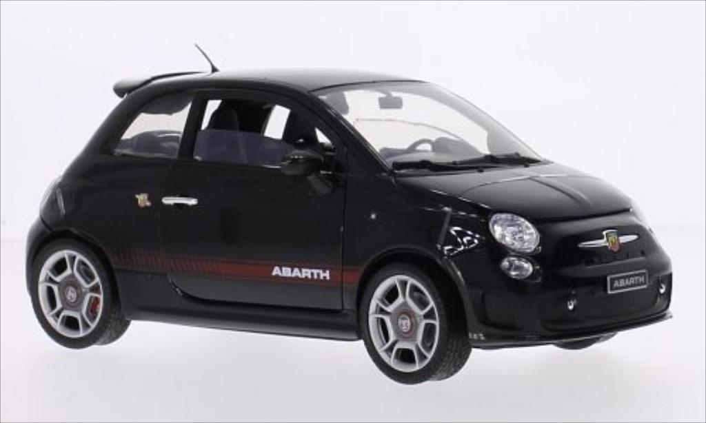 Fiat 500 Abarth 1/18 Motormax black 2008 diecast model cars