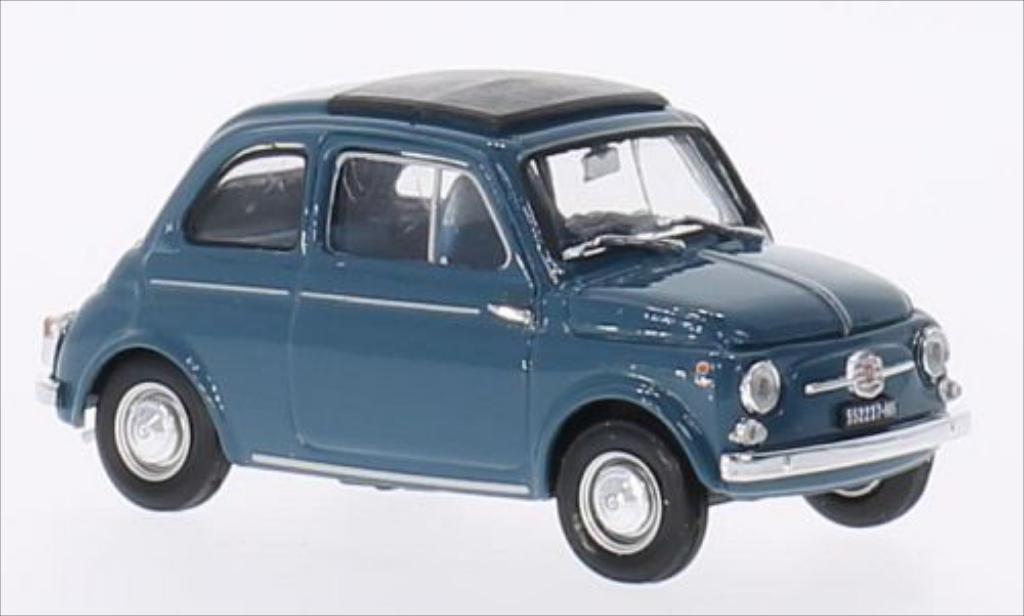 Fiat 500 D 1/43 Brumm bleu 1960 modellautos