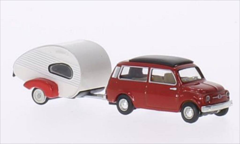 Fiat 500 1/87 Schuco Giardinera red diecast model cars