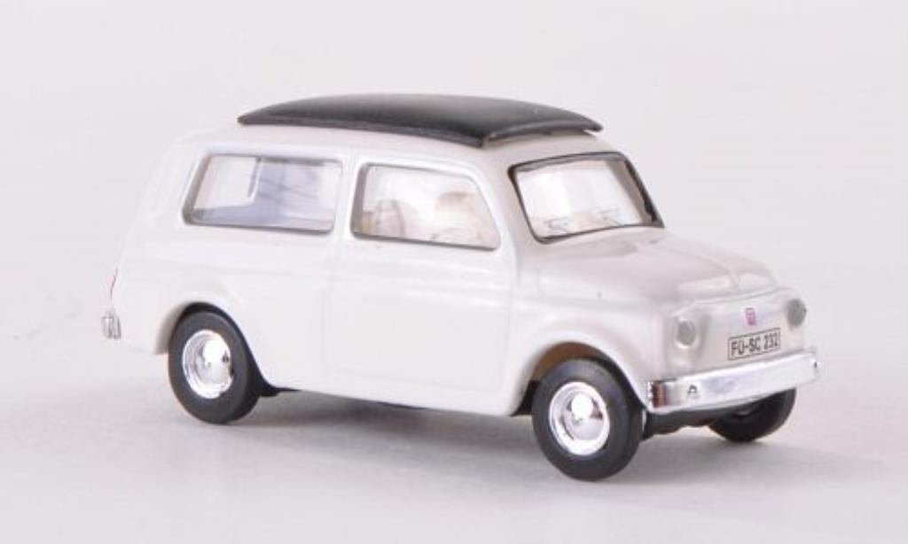 Fiat 500 1/87 Schuco Giardinera white diecast