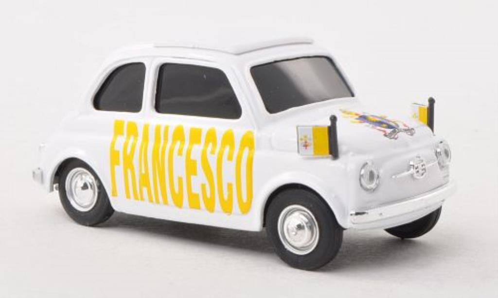Fiat 500 1/43 Brumm Papa Francesco diecast model cars
